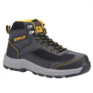 CAT Men's Elmore S1P Safety Mid Hiker Boots - Grey