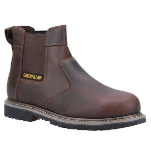 CAT Men's Powerplant Safety Dealer Boots - Brown