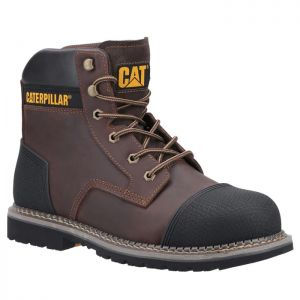 CAT Men's Powerplant S3 Safety Boots - Brown