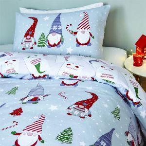 Catherine Lansfield Brushed Christmas Gnomes Duvet Set