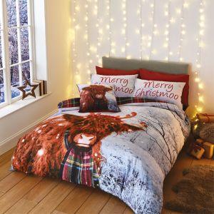 Catherine Lansfield 'Merry Christmoo' Duvet Set