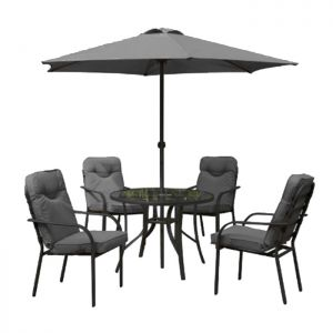 Cavelo Dining Set with Parasol  -  4 Seater