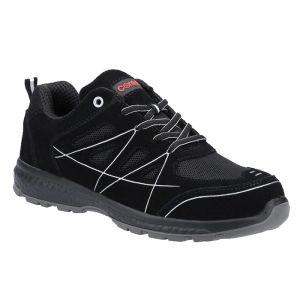 Centek Men's FS314 S1P Durable Safety Trainers - Black