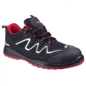 Centek Extra Light Safety Trainers – Black/Red