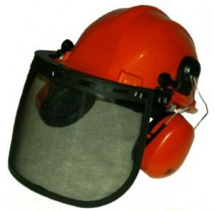 Chainsaw Forestry Ear Muffs And Safety Helmet