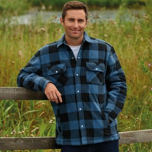Champion Men's Kinross Quilted Padded Shirt – Navy