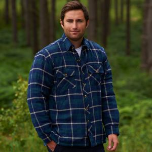 Champion Men's Totnes Quilted Padded Shirt - Navy