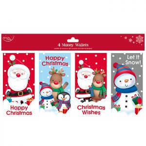 Character Gift Money Wallets - 4 Pack