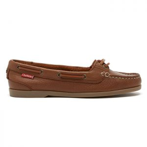 Chatham Harper Premium Leather Boat Shoes - Brown