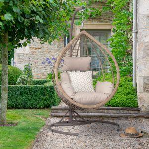 Bramblecrest Chedworth Tulip Hanging Egg Chair