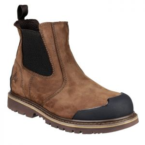 Amblers Men's FS225 Chelsea Safety Boots - Brown