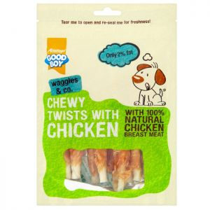 Good Boy Chewy Twists with Chicken, 90g - 10 Pack