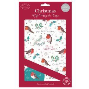 Christmas Gift Wrap & Tags – Christmas Robins