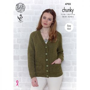 King Cole Chunky Sweater and Cardigan Knitting Pattern