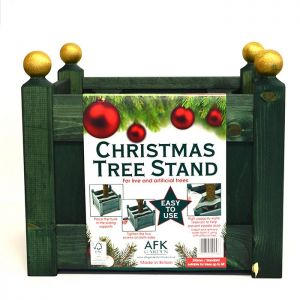 AFK Classic Wooden Christmas Tree Stand - Green