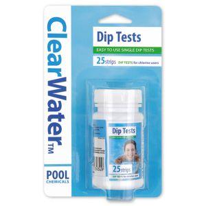 ClearWater Chlorine Dip Test Strips - 25 Pack