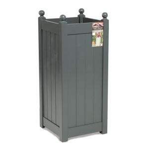AFK Classic Tall Wooden Planter, Charcoal - 15in