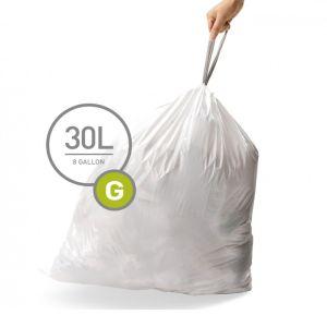 Simplehuman Code G Custom Fit Bin Liners, 30 Litre - 100 Pack