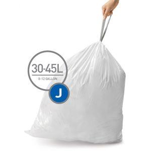 Simplehuman Code J Custom Fit Bin Liners, 30-45L – 100 Pack