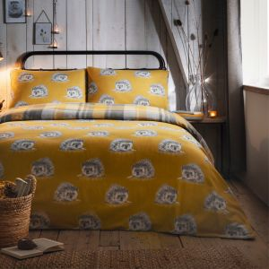 Dreams & Drapes Colville Check Duvet Set, Ochre