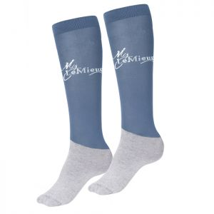 Le Mieux Competition Socks, 2 Pack - Ice Blue - Medium