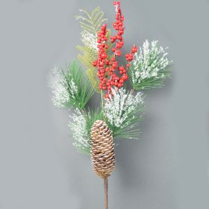 Cone and Berry Spray - 52cm
