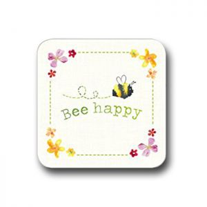 Cooksmart Coasters, Pack of 4 - Bee Happy