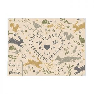 Cooksmart  Placemats, Pack of 4 - Woodland