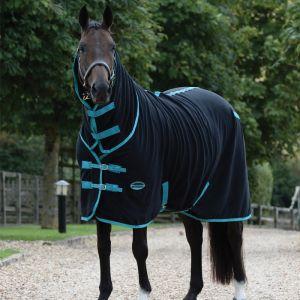 Weatherbeeta Fleece Cooler Combo Neck - Black/Turquoise