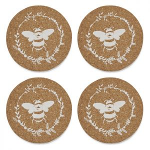 Cooksmart Set Of 4 Coasters  - Bumble Bee