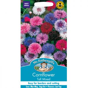 Mr Fothergill's Tall Mixed Cornflower Seeds