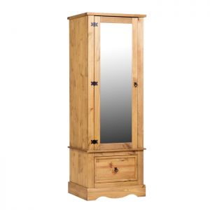 Stamford Natural Armoire with Mirrored Door