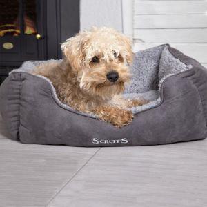 Scruffs Cosy Soft-Walled Box Dog Bed – Grey