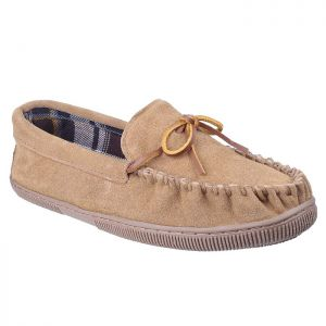Cotswold Men's Alberta Moccasin Slippers - Beige