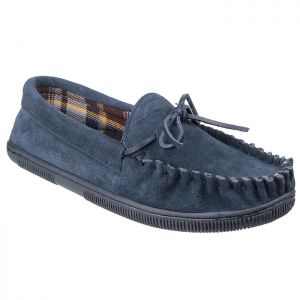 Cotswold Men's Alberta Moccasin Slippers – Navy