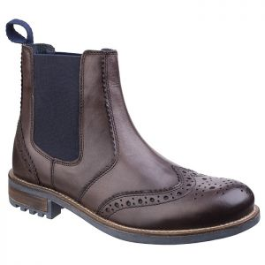 Cotswold Men's Cirencester Chelsea Brogue Boots – Brown