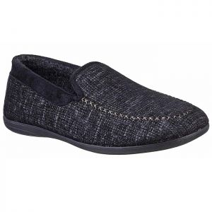 Cotswold Men's Stanley Full Slippers – Black