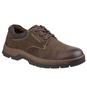 Cotswold Men's Thickwood Burnished Leather Shoes – Brown
