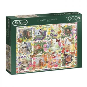 Country Calender Jigsaw Puzzle by Falcon - 1000 Pieces