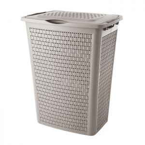 Rotho Country Laundry Box - 50 Litre, Cappuccino