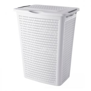 Rotho Country Laundry Box - 50 Litre, White