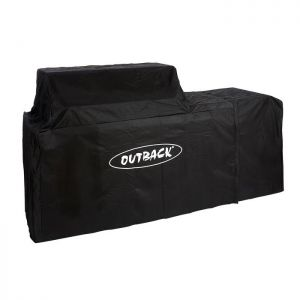 Outback Signature II 6 Burner with Cylinder Holder Attached Barbecue Cover