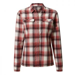 Craghoppers Ladies Dauphine Long-Sleeve Check Shirt - Rosette Red