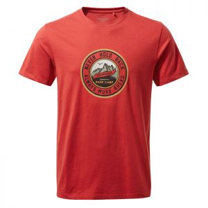 Craghoppers Men's Mightie Short Sleeved T-Shirt – Pompeian Red