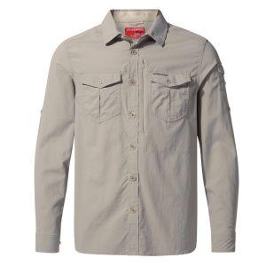 Craghoppers Men's NosiLife Adventure II Long-Sleeved Shirt – Parchment