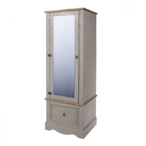 Stamford Grey - Armoire with Mirrored Door