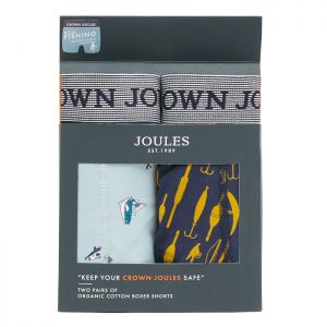 Joules Men's Crown Joules Underwear, 2 Pack - Fishing Impossible