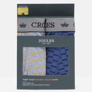 Joules Men's Crown Joules Underwear, 2 Pack - Show Me The Honey