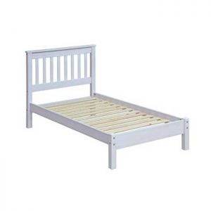 Stamford White Low End Bed - Single