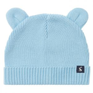 Joules Baby Cub Cotton Ribbed Hat – Haze Blue